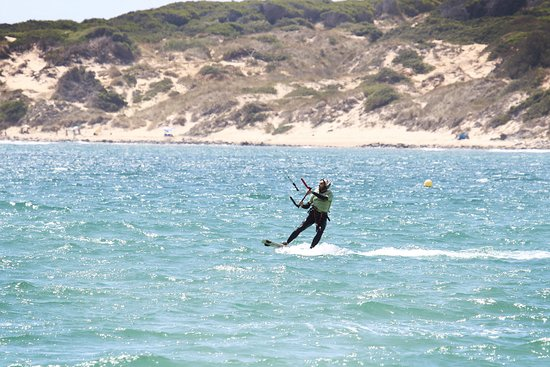 Tarifa, the Kitesurf Mecca of Europe. We are a French kite school and we speak also english and Spanish.