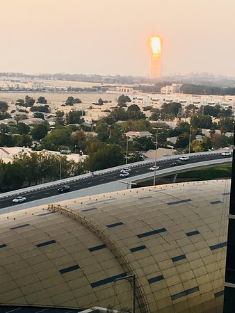 Beautiful sunset and burj al arab from the balcony