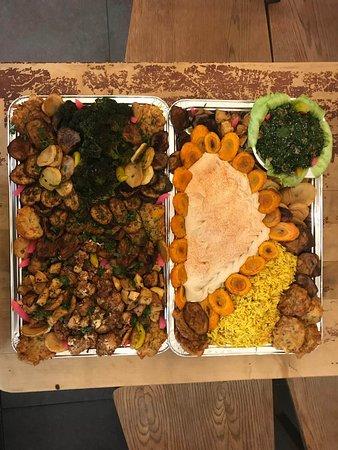 Vegetarische Platten. andere Variation.