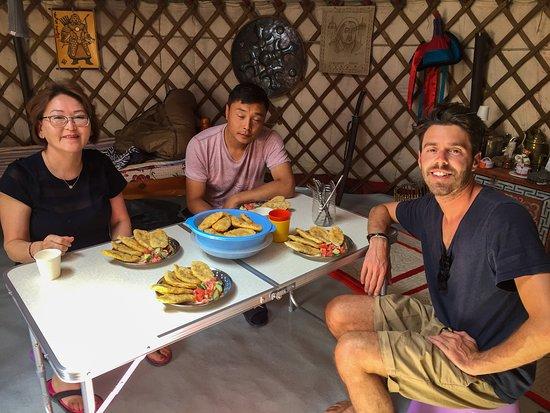 Mongolian Tour Guide: Khuushuur the fried dumplings