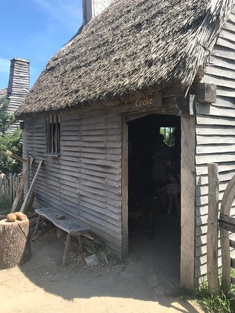 Plimoth Plantation, Mayflower II, and Plimoth Grist Mill Combo Admission Ticket: Thatched roofs.
