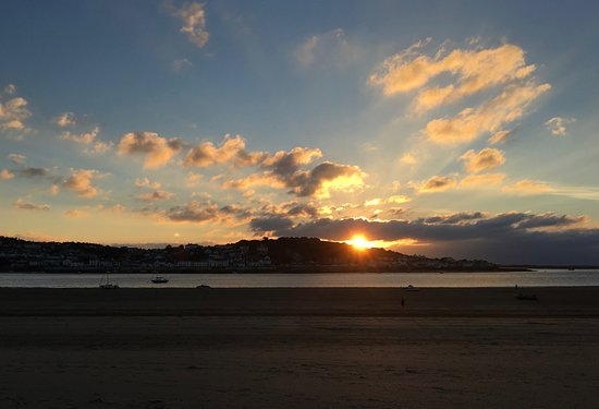Sunset over Appledore viewed from our nearest beach at Instow - just 20 minutes away