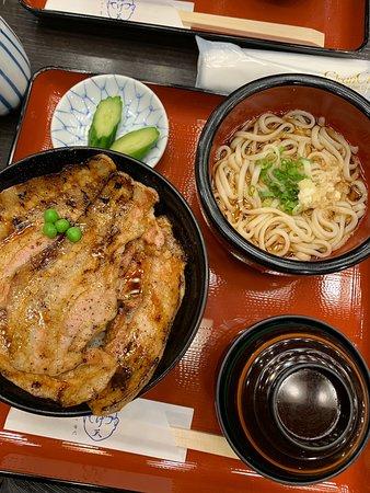 Delicous donburi! Bought their yakiniku sauce afterwards.