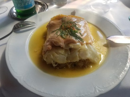 Maison Kammerzell: Choucroute 3 poissons.