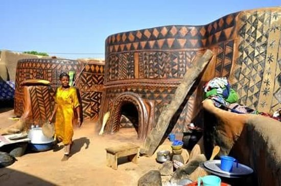 Upper East Region, Ghana: this is sirigu women art work. explore the rich traditional architectural designs.