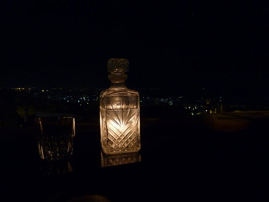 Playng with the candle and the carafe