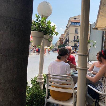 Breakfast in Central Square of Sorrento