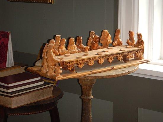 Skogar Museum: Flot træskulptur