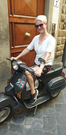 Florence Vespa Tour: Tuscan Hills and Italian Cuisine: My Wife on her return