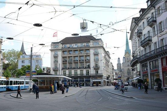 Bahnhofstrasse passing by Paradeplatz