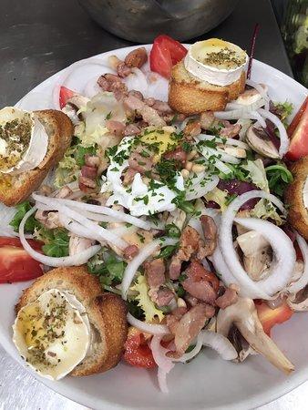 Salades pizzas