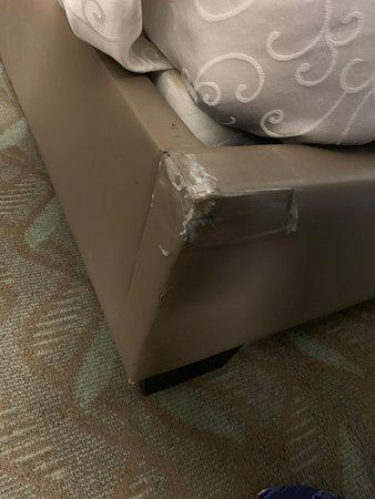 Tape on furniture