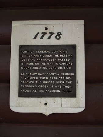 The Creek Cafe & Gourmet Market: NJ - MOUNT LAUREL – THE CREEK CAFÉ – HISTORICAL MARKER ABOUT AMERICAN REVOLUTION EVENTS HERE IN 1778