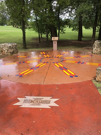 Standing Bear Park and Museum: Indian tribe area with audio presentation