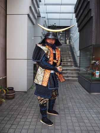 伊達政宗甲冑を着用したのお客様のお写真/伊達政宗盔甲體驗的客人/Customers' photo (Masamune Date Style)