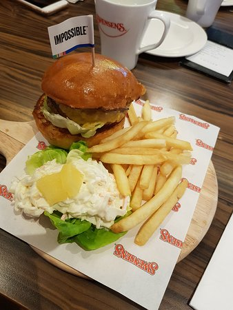 The impossible burger (vegan friendly)