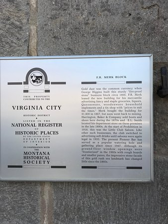 Virginia City National Historic Landmark : Virginia City