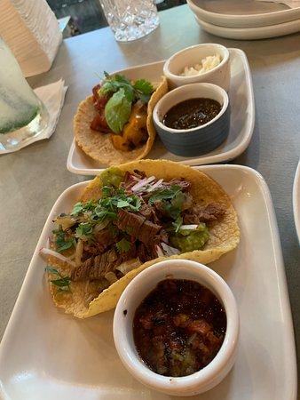 Cielito Cocina Mexicana: Delicious carne asada taco and veggie taco $4 each at HH