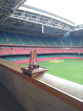 Principality Stadium: vista da tribuna real