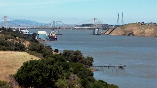 Carquinez Bridge and Vallejo from Carquinez Overlook Loop Trail