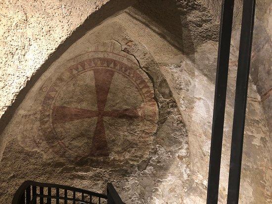 Painted cross in Virgilkapelle