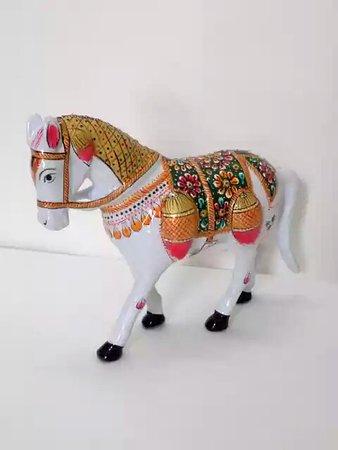 Maharani Gift Shop: Wooden Horse - Supplier and Wholesaler