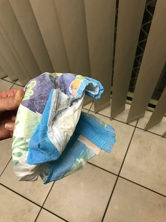 Discovery Parks - Coolwaters, Yeppoon: Used nappy my 5 yr old found under the lounge