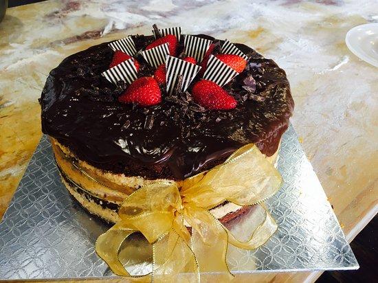 Triple Caramel Chocolate Cake