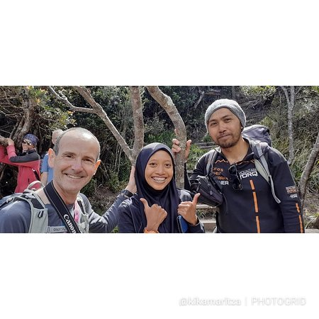The best ferrata trainer (Mr Janinudin)  & the best ferrata teammate (Mr Ian).