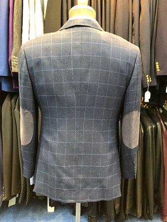 Bobby's Fashions Hong Kong Bespoke Tailors: Men's Blue Checked Blazer