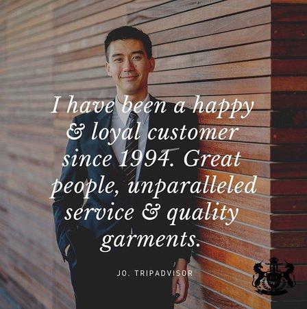Bobby's Fashions Hong Kong Bespoke Tailors: Testimonial