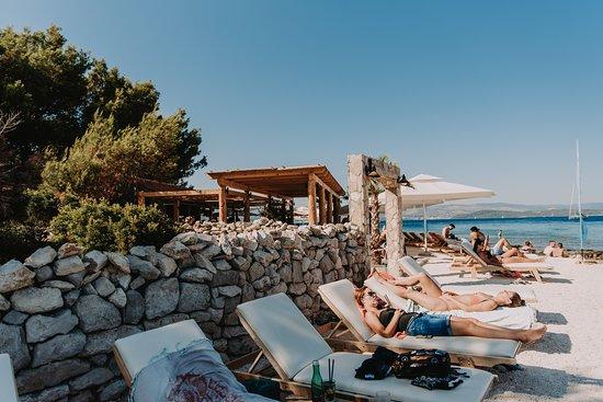 Beach bar Haven on island Drvenik Veli. Providenca charte