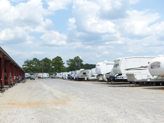 Cropwell, AL: We have both covered and uncovered storage for boats and RVs.