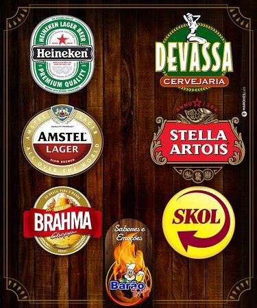 Cerveja trincando. Escolha a sua preferida.