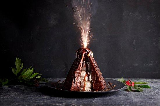 Sparkling Volcano Dessert.