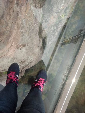 Songyang County, Chiny: Glass bridge!