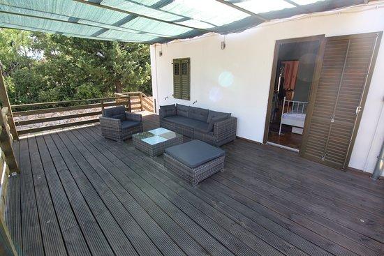 Rudine, Kroatia: Back terrace at Villa Bianca