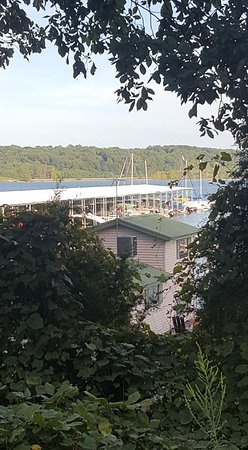 Birdseye, IN: view over our floating cabin