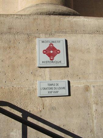 Le Temple Protestant De L'Oratoire Du Louvre: Monument historique