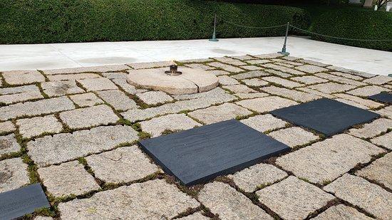 John F. Kennedy Memorial area, eternal flame