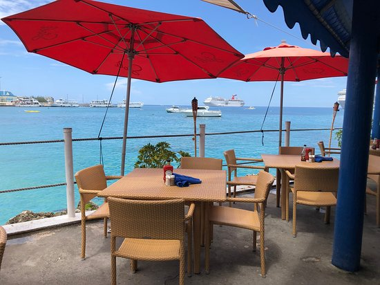 Rackam's Waterfront Restaurant & Bar - our table