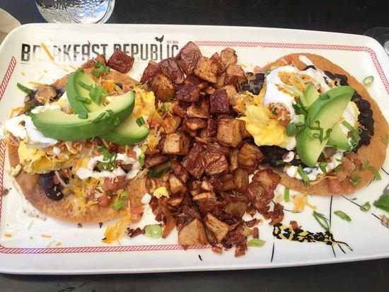 Amazing 2 Veggie Breakfast Tostadas!
