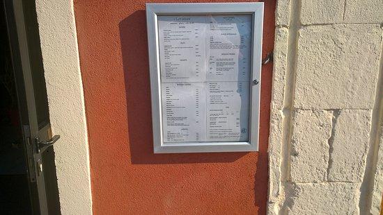 menu extérieur