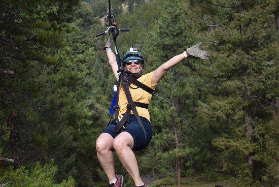 Rocky Mountain Zipline Adventure: mid zip