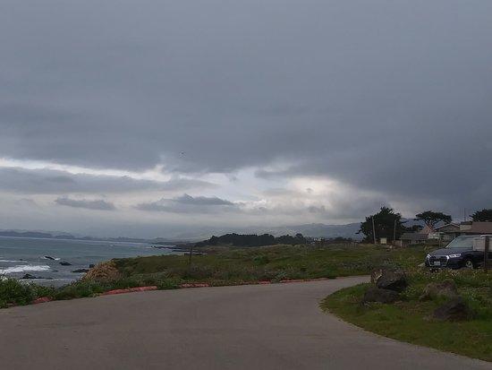 The sky above Moonstone Beach.