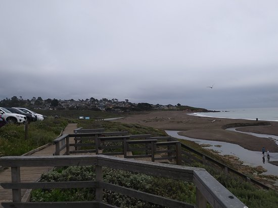 More of the boardwalk and parking.