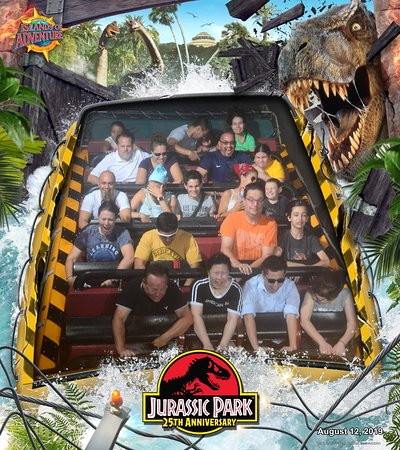 Jurassic Park River Ride - don't worry, you likely won't get more than slightly splashed