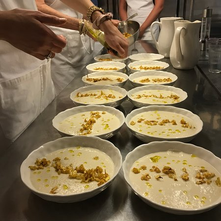 Paris Cooking Class including 3-Course Lunch, Wine & Optional Market Visit: Soup course is ready to serve