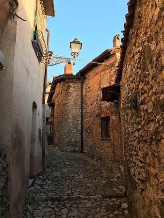 The streets of Casperia very near La Torretta.