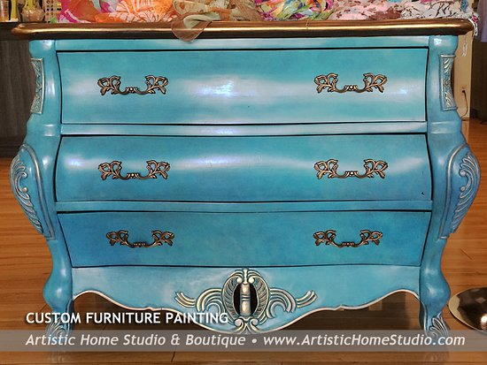 Alameda, CA: Re-love your old furniture!  We offer custom furniture painting in any style.